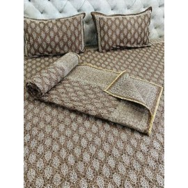 Double Bed Comforter with Jaipuri Printed Double Bed king Size Bedsheet Set