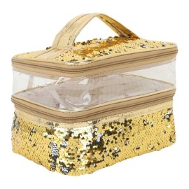 Transparent comestic bag 3 layer for Women's
