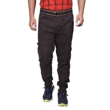 Men's Cotton Solid Cargo Pants