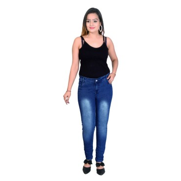 Women  Blue Skinny Fit Mid-Rise Clean Look Stretchable Jeans