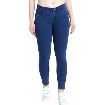 Women  Blue Skinny Fit Stretchable Jeans