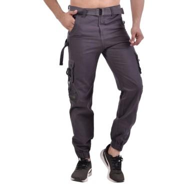 Men's Slim Fit Grey Cargo
