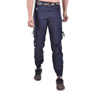 Men's Slim Fit blue Cargo