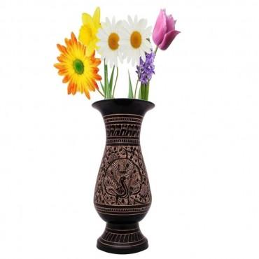 Antique Golden Minakari Work Flower Vase -136