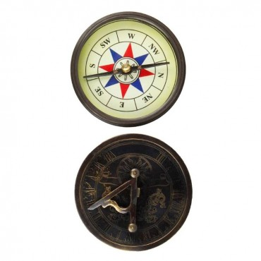Antique Stylish Real Brass Sun Dial Compass 138