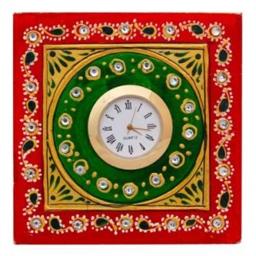 Analog Multicolor Marble Tabletop clock