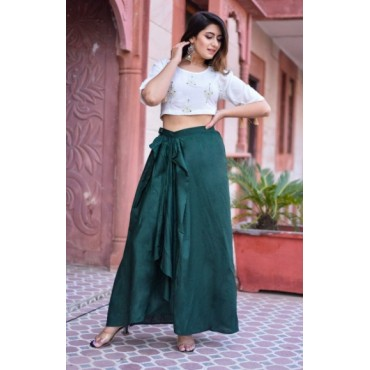 Crop Top with Skirt