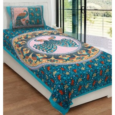 Single bed sheet size 60*90 with 1 pillow cover