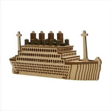 HV Enterprise Wooden Antique Steamer Boat | Decorative | Best for Office and Home Decore | Showpiece