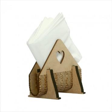 HV Enterprise Wooden Tissue Paper Box Shape Napkin Holder use for Home and Office
