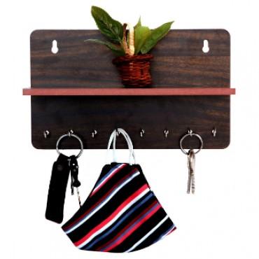 HV Enterprise Handcraft and Unique Design 8 Hooks Key Holder Stand for Home Or Office (Black)