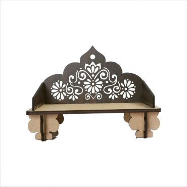 HV Enterprise Art and Craft Wooden Temple Beautiful Plywood Mandir Pooja Room Home Decor Office OR Home Temple