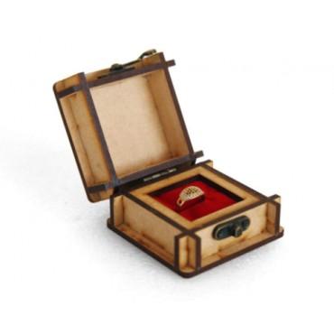 HV ENTERPRISE Wooden Designer Handcarved Jewellery Box Jewel Storage Organizer Great Gift Ideas (Brown)