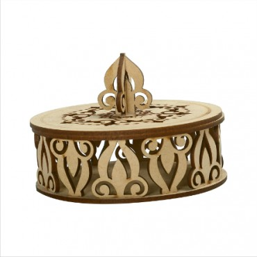 HV Enterprise Wooden Designer Handcarved Decoration Gift Box for Storage and Jewellery Box Jewel Storage and Dry Fruit Box Organizer Great Gift Ideas
