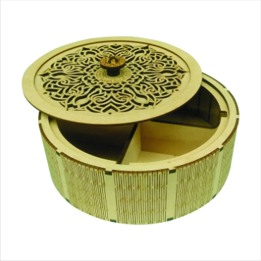 HV Enterprise Wooden Designer Handcarved Decoration Gift Box for Wedding Box for Storage and Jewellery Box Jewel Storage and Dry Fruit Box Organizer Great Gift Ideas