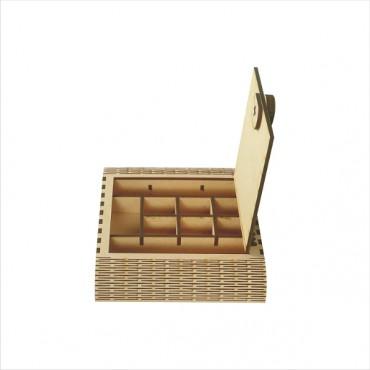 HV Enterprise Wooden Designer Handcarved Decoration Gift Box for Wedding Box and Dry Fruit Box Organizer Great Gift Ideas