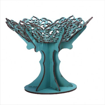HV Enterprise Crystal Products Beautiful Artificial Pot Showpiece| Tree/Plants | Tree for Indoor with Wooden Pot for Office Home Decor Showpiece