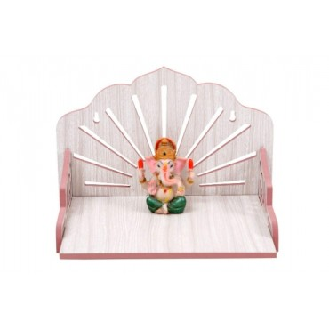 Wooden Beautiful Plywood Mandir Pooja Room Home Decor Office OR Home Temple Wall Hanging Product (White)